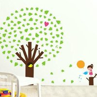 apple wall sticker - wall stickers home decor Specials removable wall stickers living room TV backdrop stickers bedroom wall wallpaper apple tree JM7120