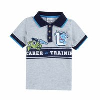 summer polo shirts - Monsters University Boys Short Sleeve Polo Shirts Nova Summer Autumn Cotton Shirt Undershirt Boy Kids Children Child Clothes Gray K1708