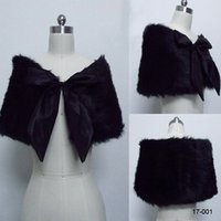 Wholesale Black New Arrival Fur High Quality Wedding Wrap Jacket Coat Shrug Popular Designer Top Seller