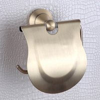 paper plate holders - CLOUD POWER Classic Stainless Steel and Copper Roll Holder Chrome plated brass toilet paper rack for bathroom accessories