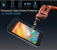 Nuevo en la acción original del 100% de vidrio templado Film protector de pantalla para el teléfono de ZOPO ZP998 Smart Mobile + envío libre WL-1356