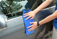 Wholesale cmx70cm blue Microfiber Cleaning Towel Microfibre Glass Cleaner Rags Car Polishing Scrubing Detailing Cloth