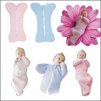 baby swaddle - 2015 Infant Baby organic Cotton Zip Up Swaddle Children Blanket Nursery Bedding Sleepsack swaddling blanket wrap DHL free MOQ SVS0346
