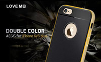 Wholesale Double Color AEGIS For iPhone Plus LOVE MEI Aegis Hybrid TPU Case Cover Aluminum Bumper New