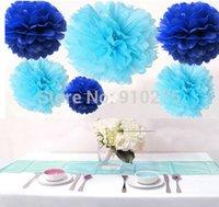 aqua tissue - Mixed Royal Blue amp Aqua Blue Party Tissue Pom Poms Paper Flower Pompoms Wedding Birthday Party Nursery Decoration