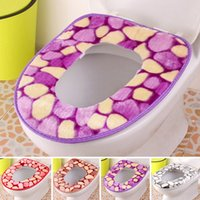 Cheap High Quality Washable Bathroom Toilet Seat Cover Closestool Lid Cover Flannel Thickening Warmer Toilet Mat Pad Cushion JI0065 Smileseller