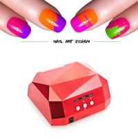 Wholesale W Nail Dryer Color Diamond Shaped UV Lamp LED Lamp Nail Lamp LED CCFL Curing for UV Gel Nails Polish Nail Art Tools