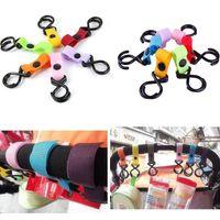 Wholesale 1 Random Color Fashion Plastic Baby Car Stroller Pram Pushchair Hanger Hanging with Hooks