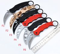 Cheap New G10 Stainless steel Fox karambit trainer Claw training folding knife camp hike travel pocket outdoor tool gear gift