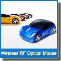 Wholesale 2 GHz USB Wireless RF Optical Mouse Car Auto Mode for PC Laptop Computer