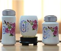 Wholesale Pastel Fumantang tea mug rotation Pen Gift Set upscale conference celebration gift