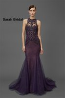 bead embroidered evening dress - New Marchesa Middle East Arabic Luxury Evening Dresses For Dubai Wedding Guest Long Party Gowns Formal Wear with Beads and Sheer Embroidered