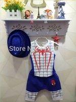 Wholesale 100 Cotton sets Baby Boys Spiderman Summer Suits Summer Clothing set Vest Pants Pieces Set