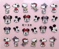 3D nail stickers - 2015 New D Nail Art stickers Stud Rhinestone Design Watermark Decals flowers Mix Colors DIY Tips Decoration E01