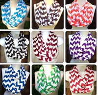 Wholesale 2015 Women s Zig Zag Scarves Stripe cotton Wave wraps Women and Teens Circle Loop scarf