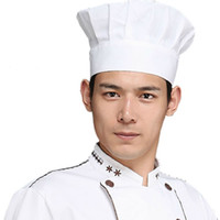 bbq costume - Adult Elastic White Hotel Chef Hat Baker BBQ Kitchen Cooking Hat Costume Cap