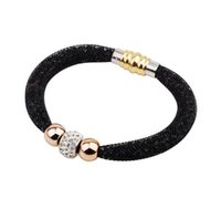 Beaded, Strands beaded bangles - 2016 Newly Stardust Crystal Bracelets Women Magnetic Clasp Bangles Infinity Ladies Girls Party Jewelry Perfect Gift Y131