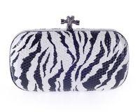 Wholesale Popular Women Accessories European Fashion Clutch Flower Leopard Geometric Print Lace Mini Dinner Evening Bags Handbag
