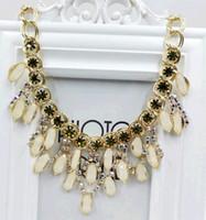 achat en gros de collier de pierre gemme verte-Big Star Bijoux 2015 Nouveau Vintage Chokers Gemstone Choker Charm Déclaration Pendentifs Colliers Rétro Cadeau gros rouge vert blanc violet