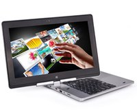 Wholesale 11 quot Rotating Capacitive Touch Screen Win8 OS Intel Celeron Laptop Computer G RAM G notebook Camera M Bluetooth HDMI Wifi ultrabook