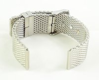 Wholesale Men s mm Stainless Steel Heavy Mesh Watch Strap Needle Buckle Watch Replacement Bracelet
