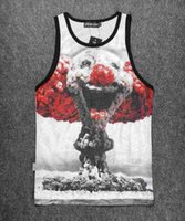 Wholesale 2016 Novelty women mens D sleeveless T shirt Top wolf leaf anmal printing D Vest Tank Top women men sports shirts tees