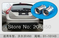 Wholesale Stainless Steel Auto Exhaust Muffler Exhaust Pipe Car Tail Pipes Fit For VOLVO S60 V60 XC60 order lt no track
