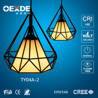 Wholesale Antique lampshade pendant light e27 retro industrial rustic iron chandelier ceiling light modern for home decoration