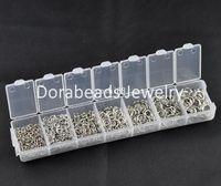 Cheap Free Shipping! 1 Box Mixed Open Jump Rings 3mm-8mm(1500 PCs Assorted) (B08914)