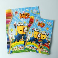 paper notebook - minions Children Coloring Book books Cartoon Minion Spiderman Elsa Paint Learning Colouring Notebook Boys Girls Drawing Toys for kids