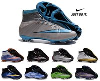 shoes dropship - Nike Men s Mercurial Superfly FG Soccer Shoes Boots High Top CR7 Cleats Laser Football Sneakers Eur Size dropship