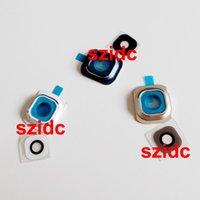 Or gros cadres lunettes Avis-Holder Frame OEM nouvel appareil photo avec lentille en verre Cover + Pour Samsung Galaxy S6 G920 Blanc / Bleu / Or 100set gros / lot Livraison gratuite