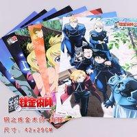 alphonse art - 48 FULLMETAL ALCHEMIST Characters Posters Anime Edward Alphonse Winry Stickers X29CM