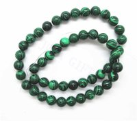 Wholesale Loose MM Natural Malachite Round Beads for jewelry necklace bracelet per strand mm hole Strands