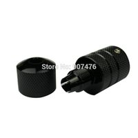 aluminum tube suppliers - Black Colors Aluminum Self lock tattoo Grip Tube with Back Stem For tattoo suppliers