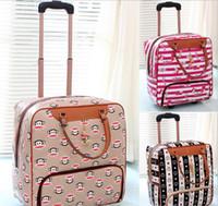 Wholesale Fashionable men and women trolley bag suitcase travel bag handbag simple lady pull rod box