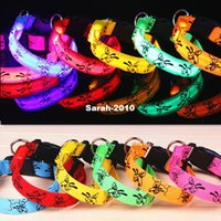 glow in dark products - Pet Products Cartoon Prints High Permeability LED Pet Collar Luminous Light Electronic Dog Collars Glow in The Dark Color