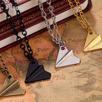 alloy papers - One Direction Paper Plane Charm Necklaces Fens Infinity Pendants Necklaces FOREVER DIRECTIONER Alloy Child Girls Gift Women Men jewelry