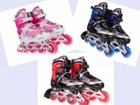 single wheel shoes - CF L Single row adjustable skating shoes Roller Skates wheels Children casual