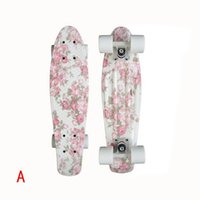 Wholesale Graphic series quot Custom original long Skate boards Retro Mini Skate long board cruiser long skateboard complete skates Drift Board
