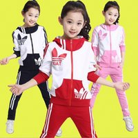 Wholesale 2015 Autumn The new suit for girls in Korean children children s letters of two sets of tidal range