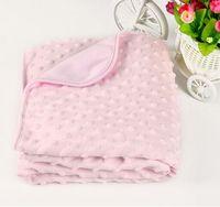 Wholesale baby chevron minky blanket knitting X100cm shower gift baby cotton blanket minky dot mink children super soft blanket