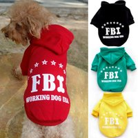 Wholesale New Arrivals Dog Pet Warm Soft Fbi Costume Coat Clothes Sport Sweater Hoodie Apparel Wx73