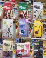 almonds snacks - Lotte Pepero Chocolate Stick boxes flavors Original Skinny Almond Blue berry Yogurt Korea Food Korean Snack