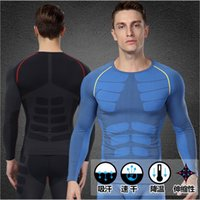 plain jerseys - Men s compression baselayer fitness muscle bodybuilding Plain quick drying clothes sport crossfit Running Jerseys shirts