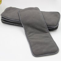 Wholesale 4 layers Bamboo Charcoal Inserts Cloth diaper For Baby Diaper washable reuseable baby diapers layer thickening urinal pad