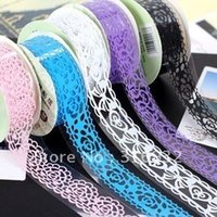 Wholesale New Fashion Cute Colorful Sweet Stationery Lace Tape Decorative Sticker DIY Tape cm