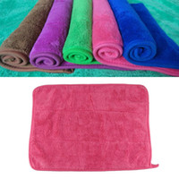 Wholesale Stylish New Plush Microfiber Buffing Dusting Towels Car Cleaning Cloth Black Silk Edge