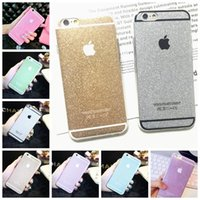 Wholesale Bling Bling Shining Glitter Diamond For Apple iphone s s Plus S Plus Colors TPU Phone Case Gold Back Cover Capa Coque