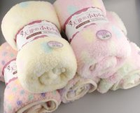 wool blankets - Flannel Infant Boys Girls Winter Blankets Kids Cartoon Polk Dot Warmth Quiltes Coral Velvet Children Bedroom Wool Blanket Rug J3038